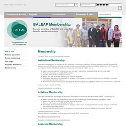 BALEAP - The Global Forum for EAP Professionals