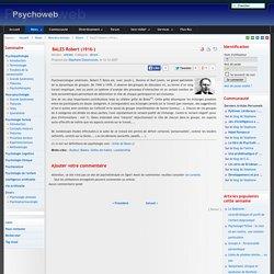 BALES Robert (1916-)-Psychoweb