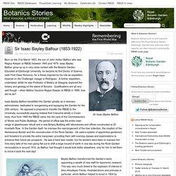 Sir Isaac Bayley Balfour (1853-1922) » Botanics Stories