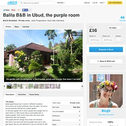 Balila B&B in Ubud, the purple room in Ubud
