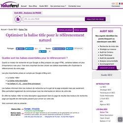 Balise Title : Optimiser la balise titre d'une page web