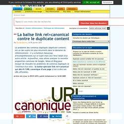 La balise d'URL canonique et son utilité en SEO
