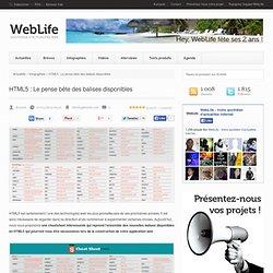 HTML5 : Le pense bête des balises disponibles