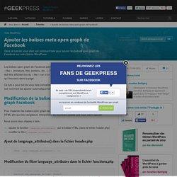 Balises meta Open Graph de Facebook sur WordPress