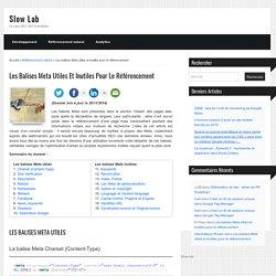 Les balises Meta : liste complète et mode d'emploi