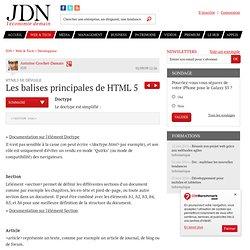 Les balises principales - HTML5 sur Journal du Net
