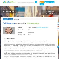 Ball Bearing,Ball Bearing inventors