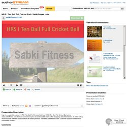 HRS i Ten Ball Full Cricket Ball - Sabkifitness.Com