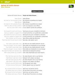 BALLAD OF HOLLIS BROWN (TRADUÇÃO) - Nina Simone - LETRAS.MUS.BR