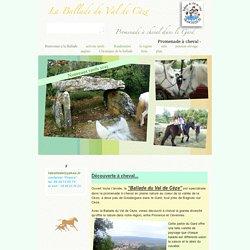 La Ballade du Val de Cèze equitation chevaux Gard Promenade à cheval dans le Gard