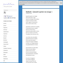 Ballade Quand à peine un nuage, poème de Théophile Gautier