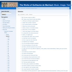The Works of Guillaume de Machaut: