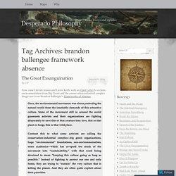 brandon ballengee framework absence