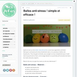 DIY Balles anti-stress ! simple et efficace !