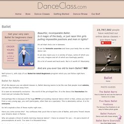 Ballet for Adult Beginners