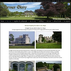 Period Property For Sale: Creagh House, Ballinrobe, Co. Mayo on www.formerglory.ie