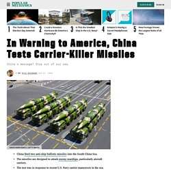 China Ballistic Missile Test: China-U.S. Military Conflict