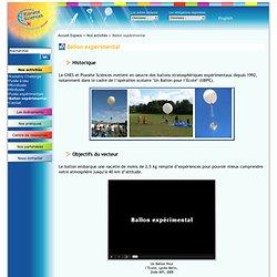 17. Ballon expérimental - Secteur espace