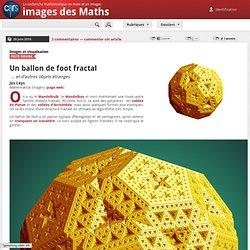 Un ballon de foot fractal