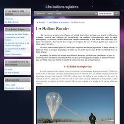 Le Ballon Sonde - Les ballons solaires