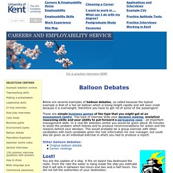 Balloon Debates