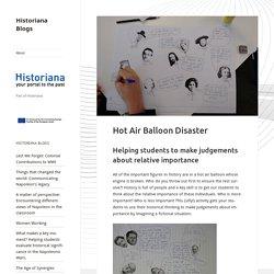 Hot Air Balloon Disaster - Historiana Blogs