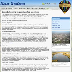 Hot Air Ballooning Questions, Balloon Flight Gift Voucher In Chelmsford, Braintree, Colchester, Brentwood, Essex UK