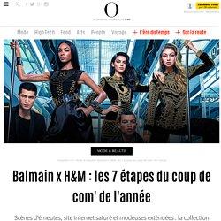 Balmain x H&M : les 7 étapes du coup de com' de l'année