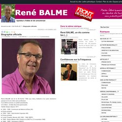 René Balme - Biographie officielle