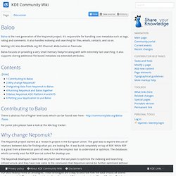 Baloo - KDE Community Wiki