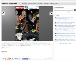 Balotelli: champagne, narghilè e massaggi in discoteca
