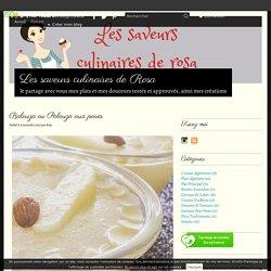 Balouza ou Palouza aux poires - Les saveurs culinaires de Rosa