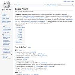 Balrog Award