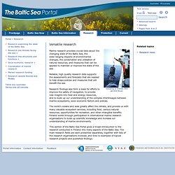 Baltic Sea Portal : Research