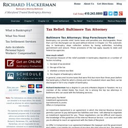 Tax Relief – Tax Attorneys in Baltimore