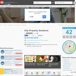 We Buy Home Fast in Baltimore –City Property Solutions