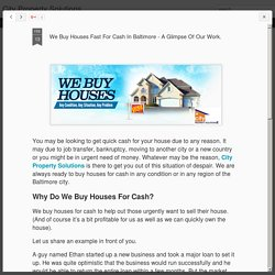 City Property Solutions: We Buy Houses Fast For Cash In Baltimore - A Glimpse Of Our Work.