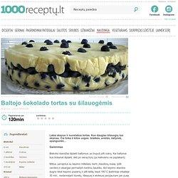 Baltojo šokolado tortas su šilauogėmis - 1000receptu.lt