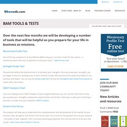 BAM Tools & Tests