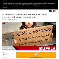 La foto bufala della bambina che chiede aiuto scusandosi di non essere migrante