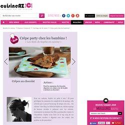 Crêpe party chez les bambins ! : La recette idéale de Crêpe party chez les bambins ! sur Cuisine AZ.