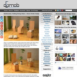 Bamboo(zle): Folding Dining Chairs + Room Divider Design