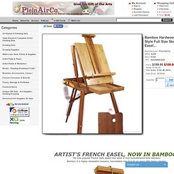 Bamboo Hardwood French Style Full Size Sketch Box Easel...