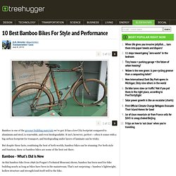 10 Best Bamboo Bikes For Style and Performance