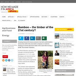 Bamboo – the timber of the 21st century?