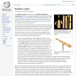 Bamboo-copter