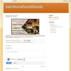 Fresh bamboo shoots cooking