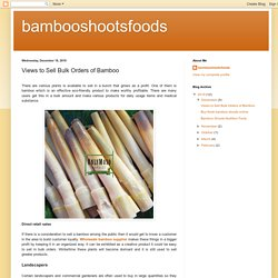 Views to Sell Bulk Orders of Bamboo