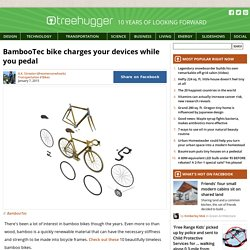 treehugger - BambooTec bike with dynamo