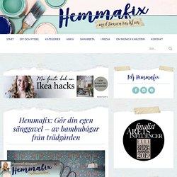 Hemmafix: Gör din egen sänggavel – av bambubågar från trädgården - Helgfixet, Inredning: Sovrum - Hemmafix